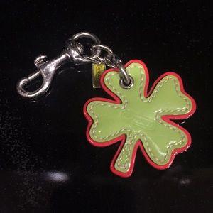 Coach Four Leaf Clover Keychain RARE